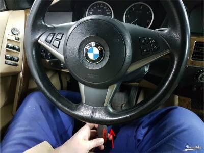Kierownica BMW E61 - demontaż poduszki powietrznej