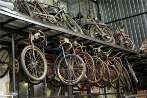 Ekspozycja zabytkowych rowerów